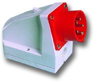 Вилка настенная <strong>PCE</strong> (доп. подведение кабеля)- 16А-32А IP44